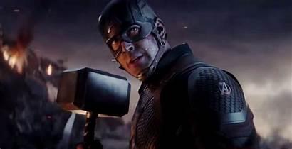 Captain Endgame Mjolnir America Avengers Shield Thanos