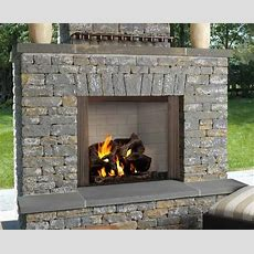 """42"""" Castlewood Outdoor Wood Burning Fireplace  Fine's Gas"""