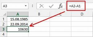 Datumsdifferenz Berechnen : datedif sage mir wie alt du bist der tabellen experte ~ Themetempest.com Abrechnung