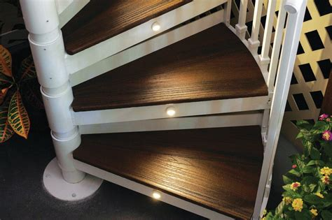 trex spiral stairs custom home magazine products outdoor rooms outdoor kitchens