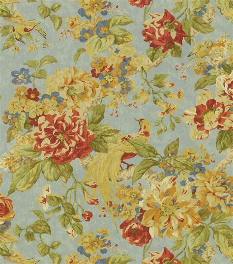 Floral Upholstery Fabric by Upholstery Fabric Waverly Floral Engagement Woodland Jo