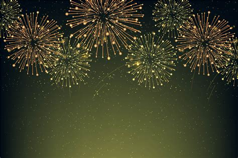 And New Year Background by New Year Fireworks Golden Poster Background
