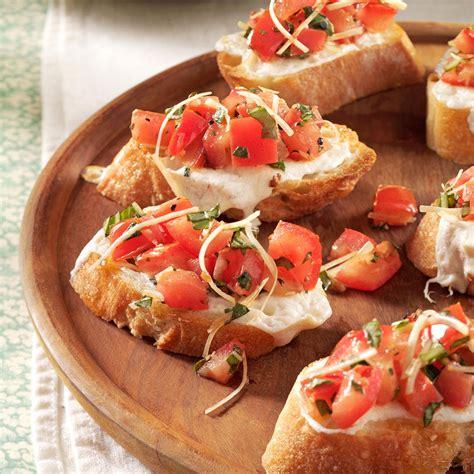 crab canapes fresh tomato bruschetta recipe taste of home
