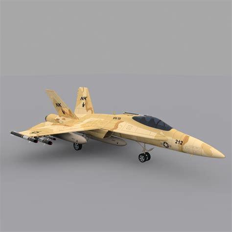 F A-18 Hornet Fighter Jet 3d Fbx