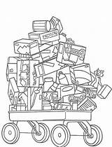 Cart Coloring Pages Hedge Toys Template sketch template
