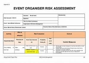 group event project plan With event risk management template