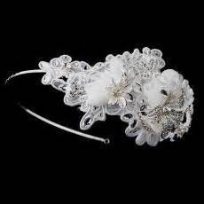 Ivory Side Accented Crystal Flower Headband