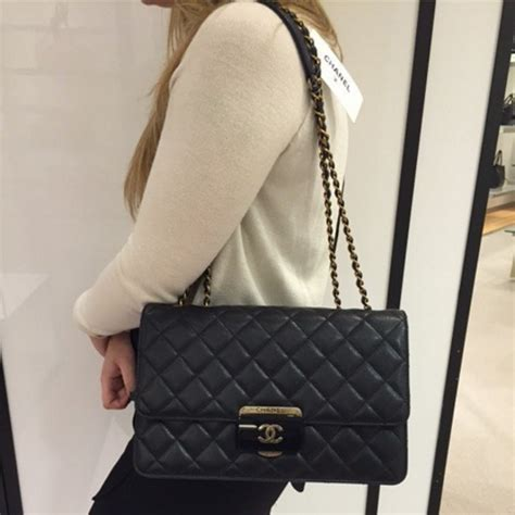 chanel beauty lock flap bag reference guide spotted fashion