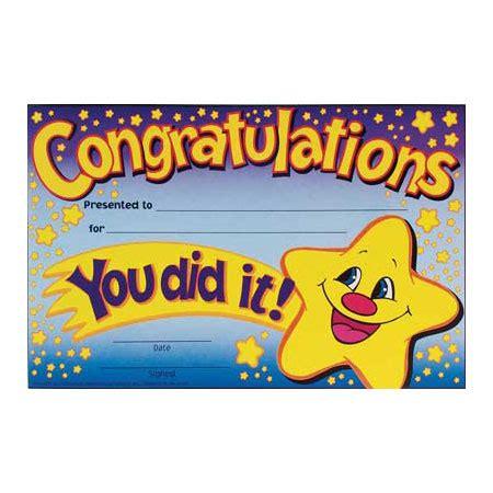 certificate congratulations certificate