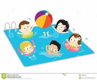 Pool Fun Having Clipart Playing Clip Swimming