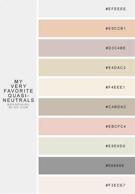 quasi neutrals color palettes neutral