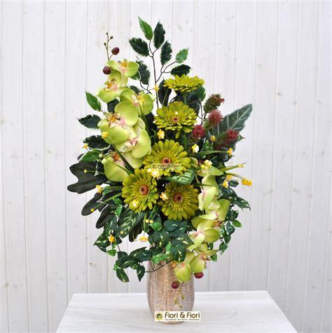 fiori per cimitero bouquet fiori artificiali gerbera verde per cimitero in