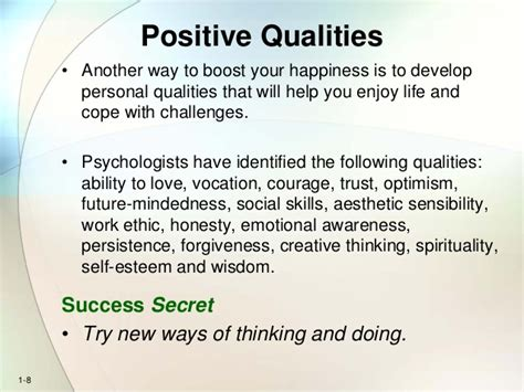 Personal Qualities For by Chapter 1 For Students Psycology Of Success