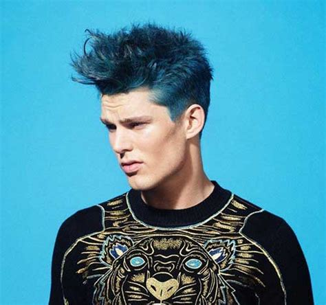 guy  blue hair mens hairstyles