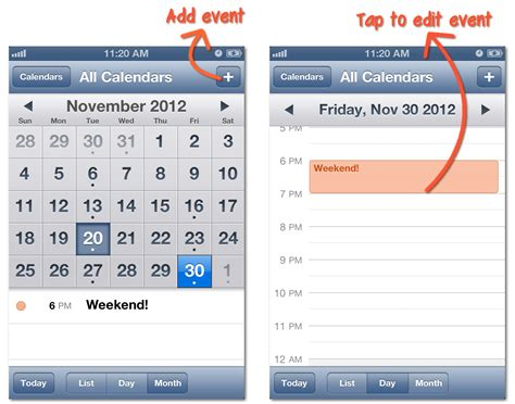 how to link calendars on iphone iphone calendar app