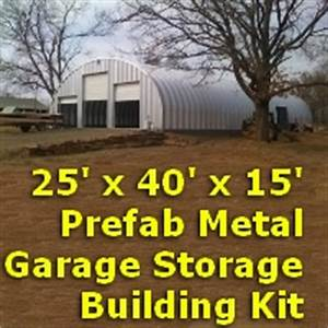 2539 x 4039 x 1439 prefab metal garage storage building kit for 40 x 40 metal building kit