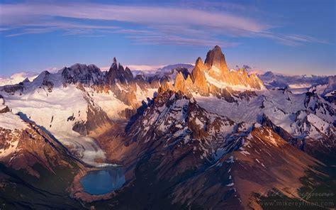 Fitzroy Massif Cerro Torre Massif And Perito Moreno