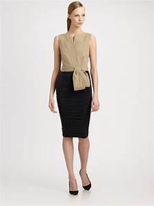 Dressing New York : donna karan new york bicolor dress in black coal lyst ~ Dallasstarsshop.com Idées de Décoration