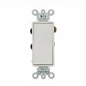 Leviton 15 Amp Decora Residential Grade 4-way Lighted Rocker Switch  White-012-05614-02w