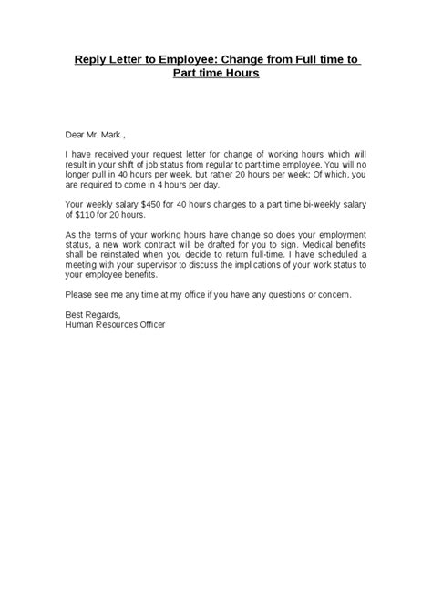change of working hours letter template for contracts nz best photos of hour work schedule change memo to employees