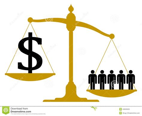 Imbalanced Pendulum Scale With People And A Dollar Stock