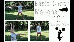 Basic Cheer Motions 101 Tips And Tricks Youtube