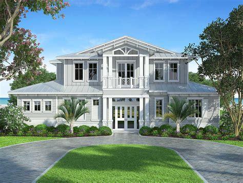 splendid  florida style house plan bw