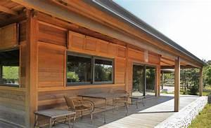 maisons en kit en bois exotique de mobiteck la maison With maison bois et paille 4 poteaux poutres et paille