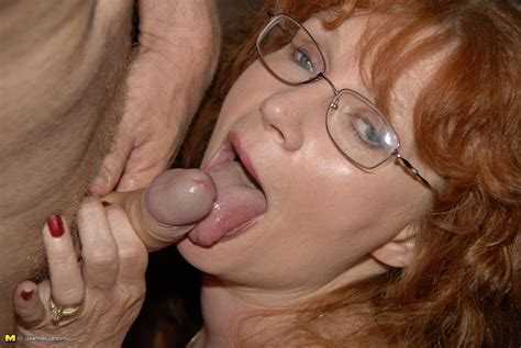 This Red Mature Nympho Loves To Get Down On Cock