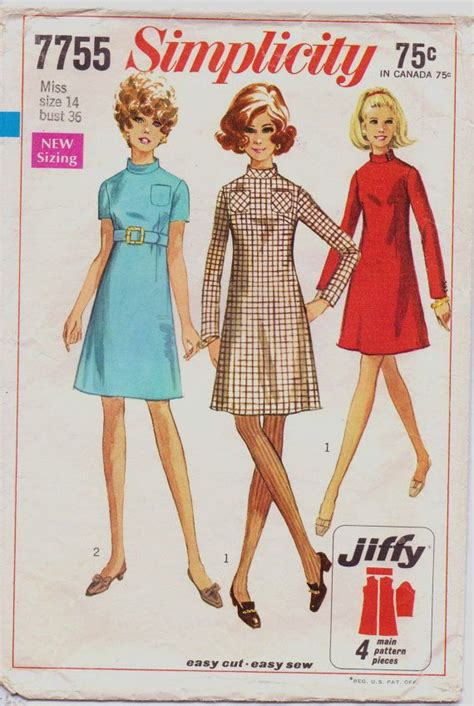 60s simplicity pattern 7755 do it your self sew it 60er 50er und stil