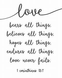 Love Never Fails - Free Printable! Sincerely, Sara D