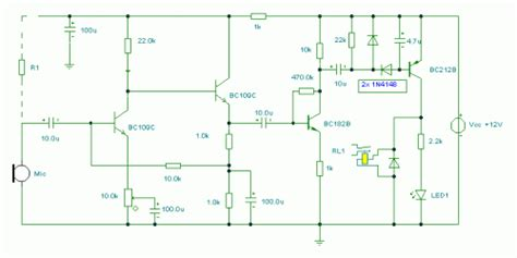 Sound Operated Switch Circuit Diagram Instructions