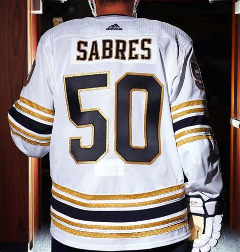 buffalo sabres unveil golden jersey announce return