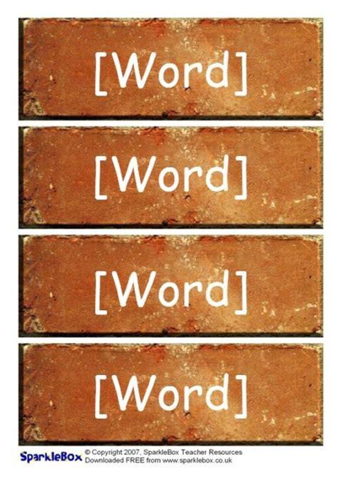 editable word wall bricks templates sb sparklebox