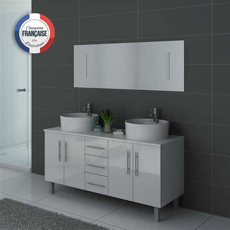 meuble de salle de bain blanc 2 vasques meuble de salle de bain blanc dis989b