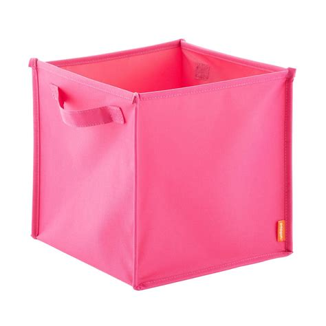 Pink Poppin Pop Up Fabric Storage Cube  The Container Store