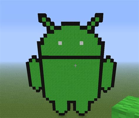 android logo mascot minecraft project