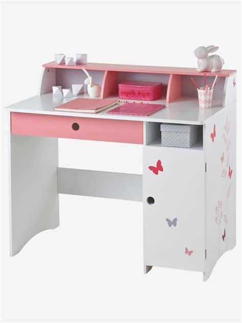 bureau enfants fille bureau junior envolée blanc vertbaudet