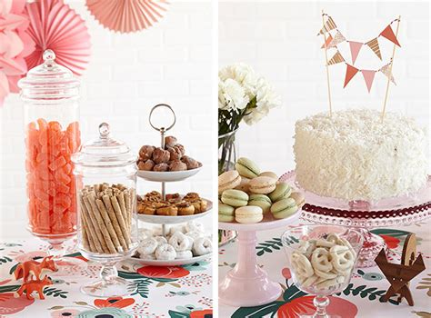 dessert table for baby shower crafty like a fox party theme making it lovely