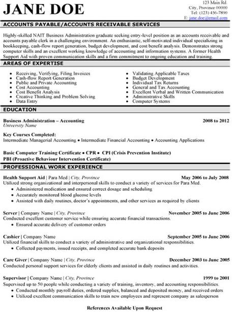 Accounts Payable Resume Summary by 8 Best Best Accounts Receivable Resume Templates Sles