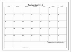 Kalender September 2018 MS