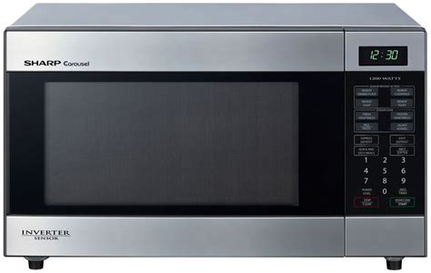 new sharp r395ys stainless steel inverter microwave 1200w