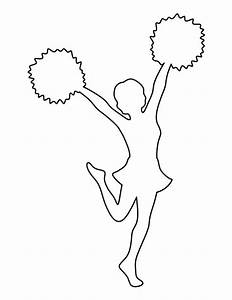 Cheerleader pattern use the printable outline for crafts creating stencils scrapbooking and for Cheerleading templates printable