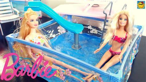 La vacación de verano de barbie. Juegos De Vestir A Barbie En La Piscina - Tengo un Juego