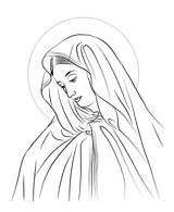 Lady Sorrows Coloring Mary Seven Catholic Fatima Printable Rosary Drawing Silhouette Tattoo sketch template