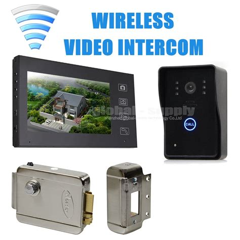 best wireless intercom systems for home diysecur 7inch wireless door phone doorbell intercom