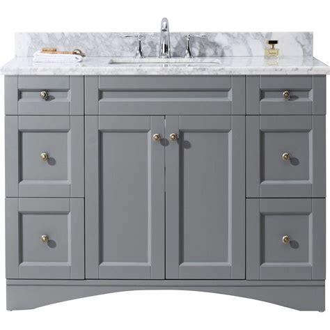 grey bathroom cabinets virtu usa elise 48 in w x 22 in d vanity in grey with 13028