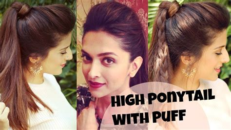 Simple Puff Hairstyles Ideas 3 Easy Everyday High Ponytail