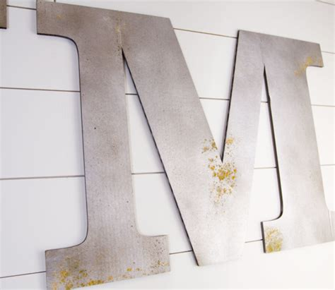 faux metal letters  cardboard craftcuts community