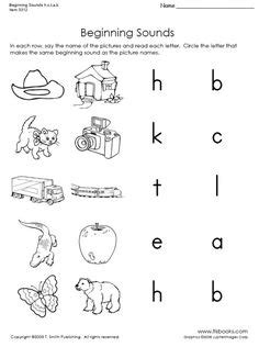 beginning sound worksheets images beginning